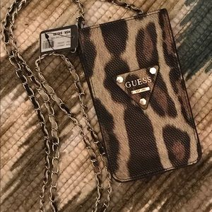 Guess phone and card carrier purse